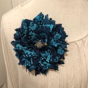 Upcycled Fabric Flower Brooch Pin Fashion